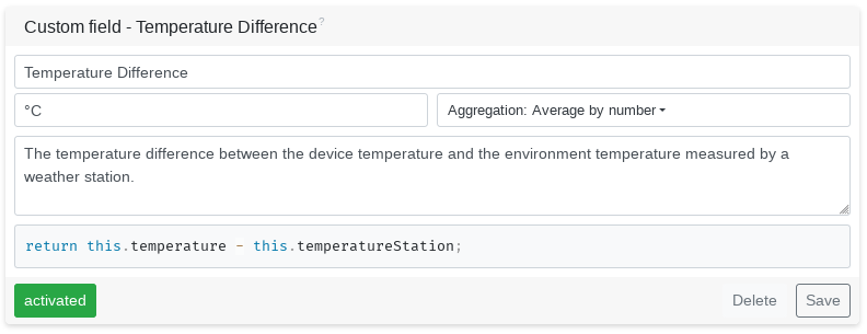 Temperature Difference JavaScript