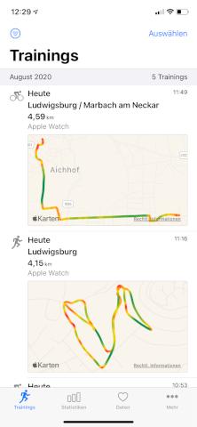HealthFit - Apple Watch - Activities