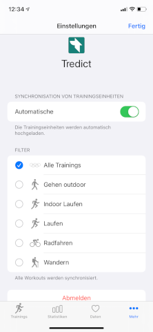 HealthFit - Apple Watch - Automatic sync