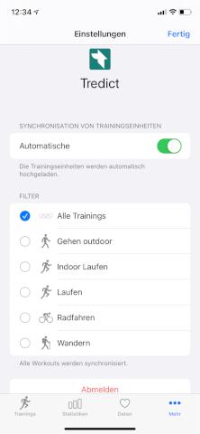 HealthFit - Apple Watch - Automatic sync