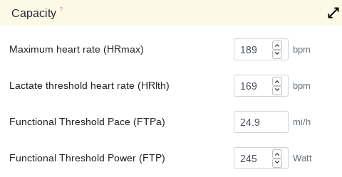 Lactate threshold heart rate - Changelog
