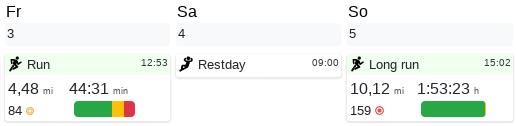 Restday in workout schedule - Changelog