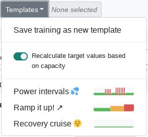 Training segments preview chart - Changelog