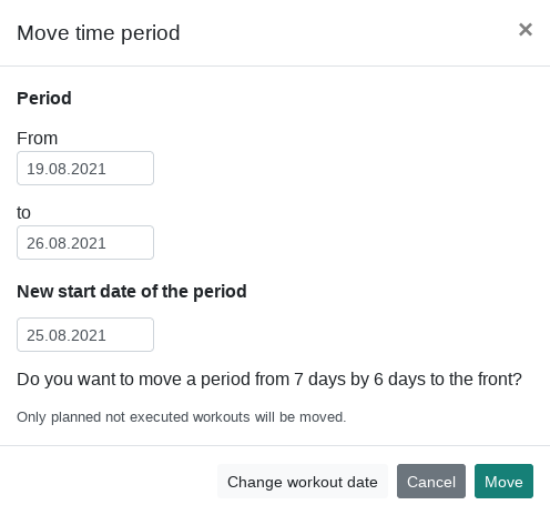 Move date range in time periods - Changelog