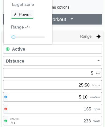 Range slider for target zones - Changelog